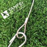 Estilingue da corda de fio com o olho macio com gancho simples