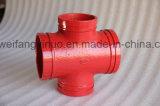 Крест 300psi дуктильного равного штуцера трубы высокого качества FM/UL/Ce утюга Approved Grooved 4 дюйма