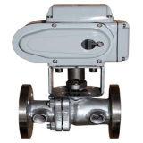 Válvula de esfera elétrica da isolação da válvula de esfera do aço inoxidável do revestimento do vapor