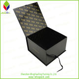 Подгонянные черные коробки подарка Bowtie упаковывая с закрытием тесемки