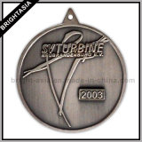 방아끈 (BYH-10366)로 걸기를 위한 질 금속 큰 메달 메달