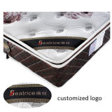 Colchón de látex de tela de poliéster transpirable y cómodo