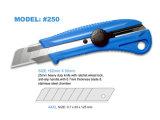 25m m Encajan a presión-apagado el cuchillo utilitario de la construcción de la lámina con el apretón del PVC, herramientas de la mano