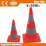 Orange Base de PVC européenne de la sécurité routière Cône