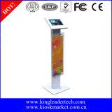 De anti-diefstal Tribune van de Kiosk van de Bijlage van de Tablet van het Metaal met Reclamebord voor Samsung 10.1tab2, Tab3, Tab4