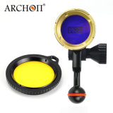 Braccio subacqueo d'immersione blu del video Flashlight+Ball del CREE XP-E D4 LED di arconte Wl07