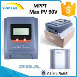MPPT 20A 12V/24V maximaler PV 55V/90V Solarzellen-Controller Mt2010