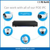 magnetoscopio della rete di 8CH 1080P P2p Poe