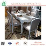 工場デザイン木製表のヨーロッパ式の革食事の椅子