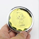 Espejo Pocket redondo del metal con el espejo lateral doble