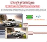 I nuovi dati del USB del metallo 2A caricano il cavo dell'acciaio inossidabile per il iPhone 5 5s 6 6s più il iPad dell'IOS