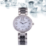 Baijia Pearl Face Diamond Ceramic Ladies Quarts Watch