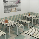 조밀한 박층으로 이루어지는 널 옥외 물자 대중음식점 테이블