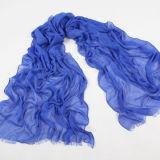 女性のための青いビスコース長いスカーフ