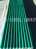 Folha ondulada galvanizada Prepainted da placa de telhado do metal/telhadura da cor