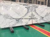 イタリアの白い雪の白い大理石の平板