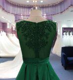 Линия платье вечера венчания шеи шлюпки с сатинировкой