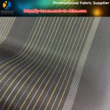 Prodotto intessuto banda tinto nero/bianco dell'indumento del filato di poliestere (S1.64)
