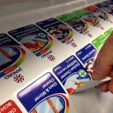 Etiqueta engomada cortada con tintas del papel de imprenta de la pantalla, etiqueta engomada de encargo del papel de satén de la impresión de la talla grande