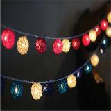 Corda por atacado da luz do partido/Natal com esfera de algodão
