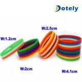 Wristbands impresos del caucho de las pulseras del silicón