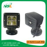 4 '' 16W E-MARK LED luz de trabalho, impermeável Offroad Driving Light, ATV, caminhão, Jeep Car Accessories