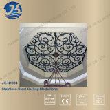 Láser de corte de acero inoxidable del espejo del oro de techo decorativo
