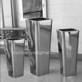 Grand cadre de planteur d'acier inoxydable de fini de miroir
