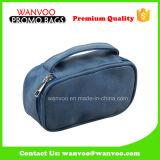 決め付けられた青いPU防水ハング旅行ビジネス洗面用品袋