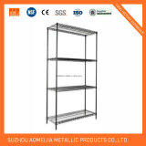 4 Tier Black Wire Rack Prateleira de armazenamento de armazenamento de metal