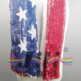 보일에 근거를 두는 특유한 미국 국가 깃발 패턴 인쇄 스카프