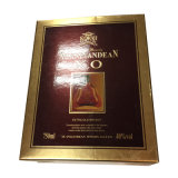 Het gouden Verpakkende Vakje van de Wijn van het Document, kan vlak Ingepakt voor het Verschepen