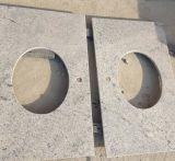 Brame blanche de granit de la Kashmir, partie supérieure du comptoir Polished de blanc de la Kashmir