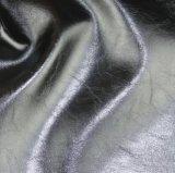 Tecido suportando o couro sintético Waxy do PVC do petróleo para o sofá (809#)