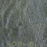 Couro artificial do sofá do PVC da cera rachada por atacado do petróleo da grão (908#)