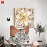Крупноразмерная картина маслом цветков с рамкой для декора