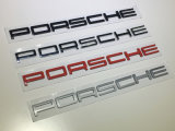 Emblema de Nameplated Bagde del tronco de la parte posterior del metal del cromo para Porsche