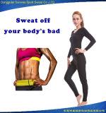 長い袖のネオプレンの適性の焼跡の脂肪汗摩耗(上およびズボン)
