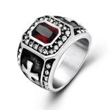 Cor luxuosa da jóia 2 da forma dos anéis dos homens embutidos Zircon