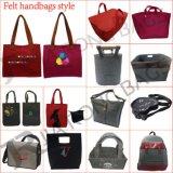 再使用可能なフェルトの女性のためのNon-Wovenショッピング戦闘状況表示板のハンドバッグ