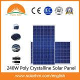 (HM-240P-60-1) 중국 최고 가격 240W 많은 크리스탈 태양 전지판