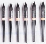 cepillo de madera del arte de la pintura de la acuarela de la maneta del pelo de la ardilla 9PC/Set