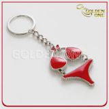 Metallo operato Keychain del regalo di promozione di stile del bikini di disegno