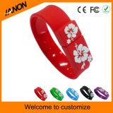 Mecanismo impulsor del flash del USB del Wristband del USB de la venta al por mayor 2.0 con colores mezclados