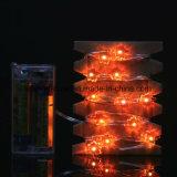 Померанцовая форма кленового листа освещает света шнура низкого напряжения тока крытые СИД USB Dimmable