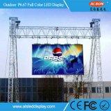 P6.67 pantalla a todo color al aire libre del alquiler LED para la etapa