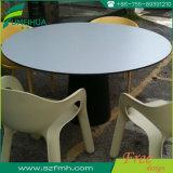 Kundenspezifische runde weiße Vertrags-Laminat-Tisch-Oberseite