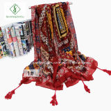 Manier Dame Scarf Nepal Style met de Sjaal van het Strand van Leeswijzers