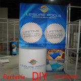 Kundenspezifische bewegliche modulare Messeen-Ausstellung-Rückseiten-Wand mit Regalen