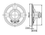 66mm 4ohms 0.5W quadratisches Papier-Kegel-Plastik-Minilautsprecher mit RoHS